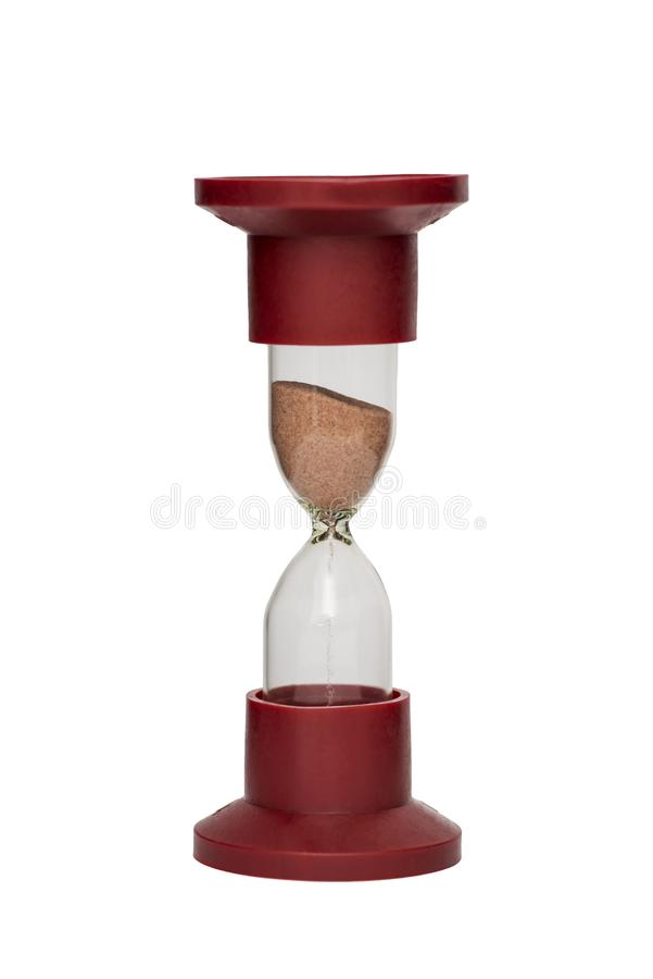 Hourglass, sand glass isolated on white background royalty free stock photo