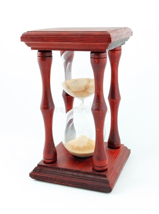 Hourglass, sandglass piaska zegaru piaska zegar odizolowywał biel obraz stock