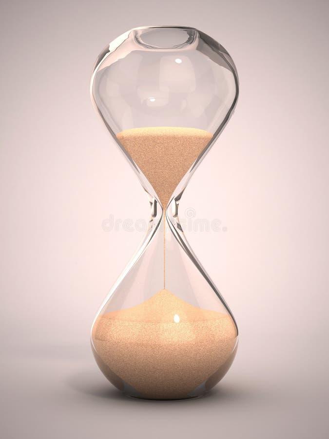 Hourglass, sandglass, temporizador da areia, pulso de disparo da areia ilustração do vetor