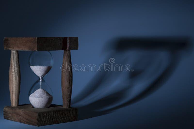 Download Hourglass Shadow stock photo. Image of measure, grain - 37999596