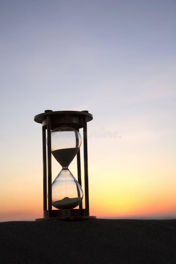 Hourglass At Sunset Stock Photos