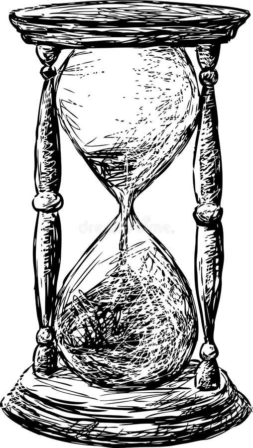 Hourglass stock vector. Illustration of timer, white ...