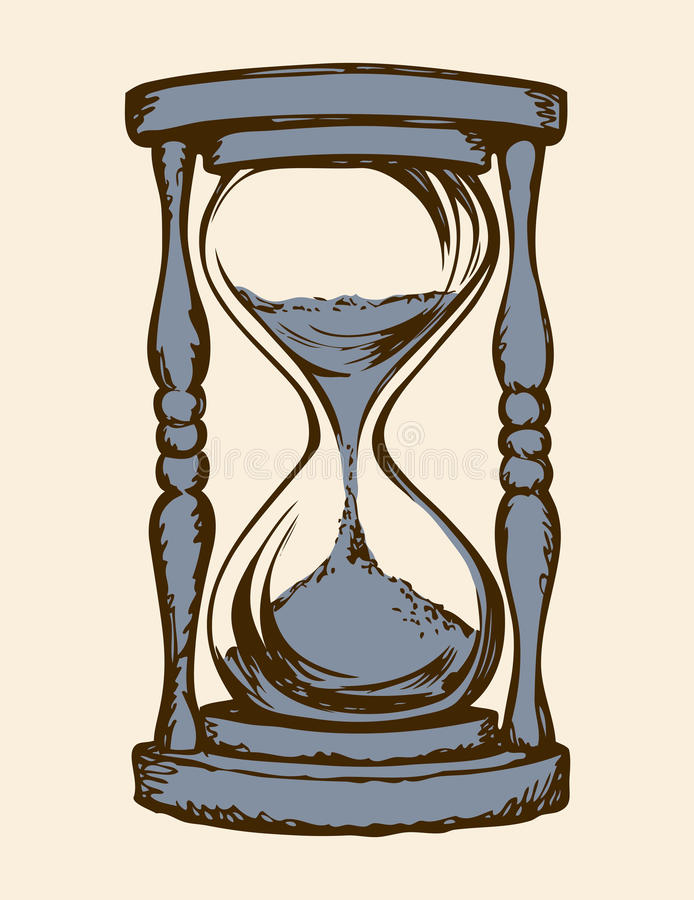Hourglass Vector Drawing Stock Vector Illustration Of