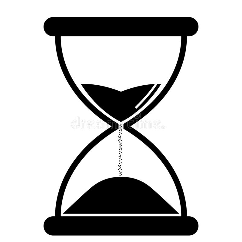 Hourglass vector eps illustration by crafteroks royalty free illustration