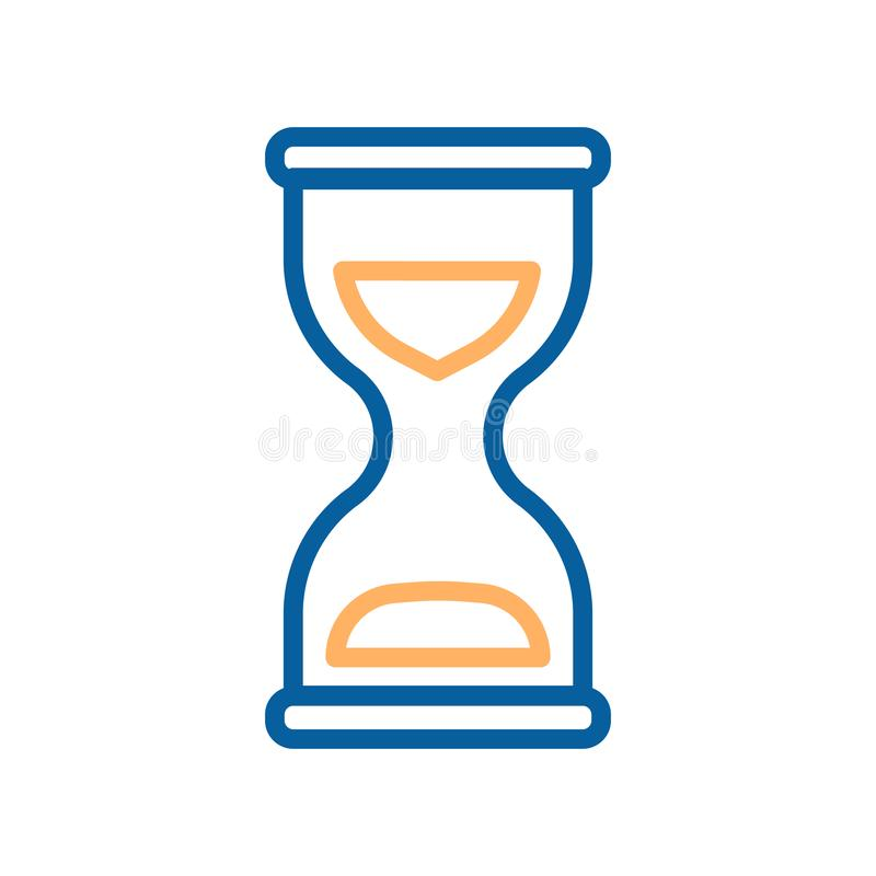 Hourglass vector icon. Illustration for concepts of time. Sandglass representing time, waiting, delivery etc stock illustration