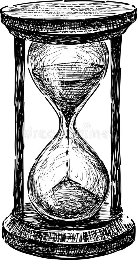 Hourglass stock illustration