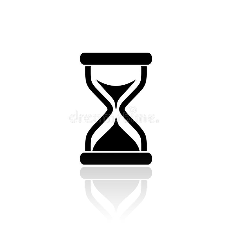 Hourglass wektoru ikona ilustracja wektor