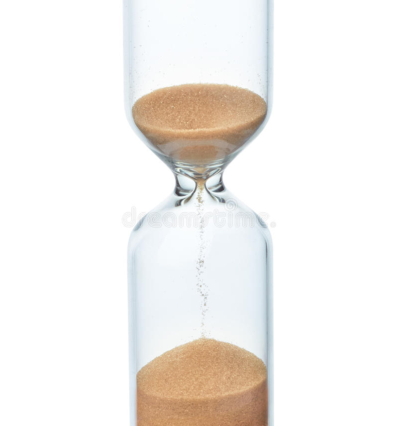 Hourglass. On a white background royalty free stock photos