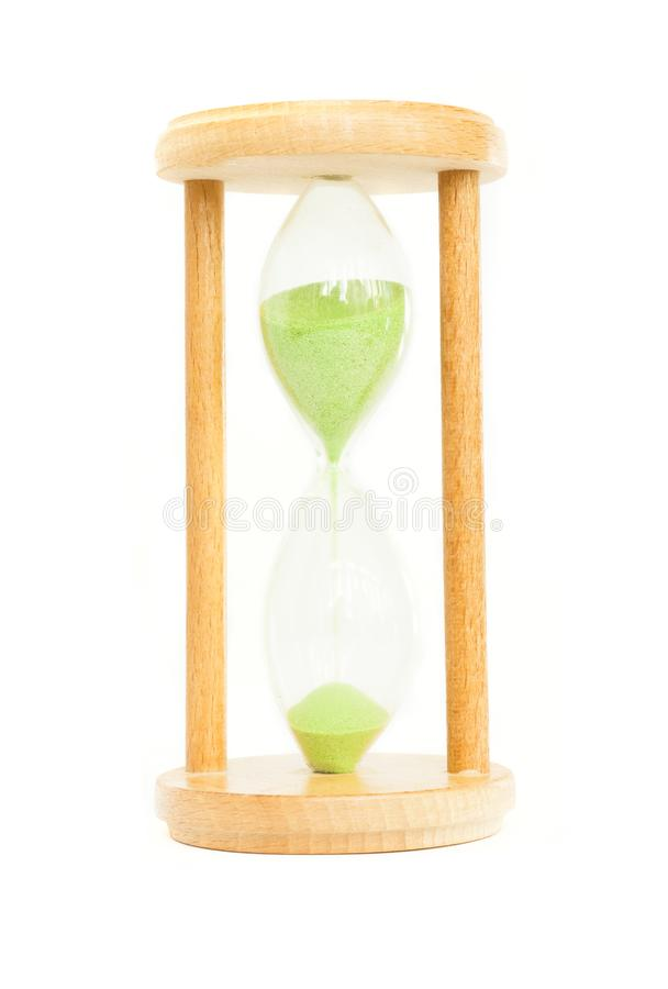 The hourglass on white. Background stock images