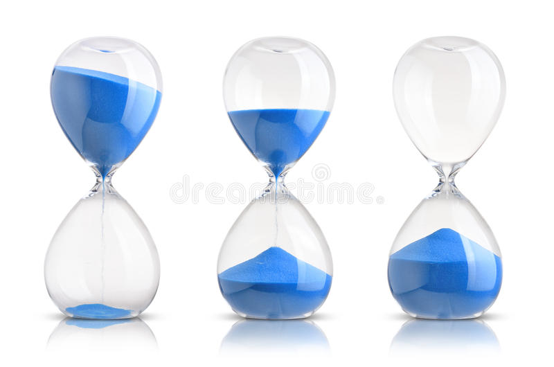 hourglasses stock foto's