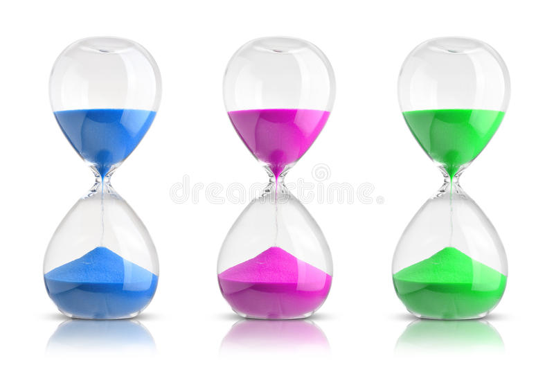 hourglasses fotografia de stock royalty free