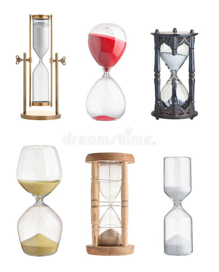 hourglasses stock afbeeldingen