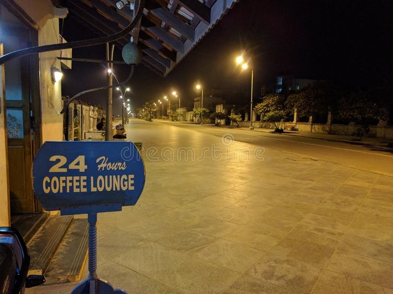 24 Hours Coffee Lounge royalty free stock images