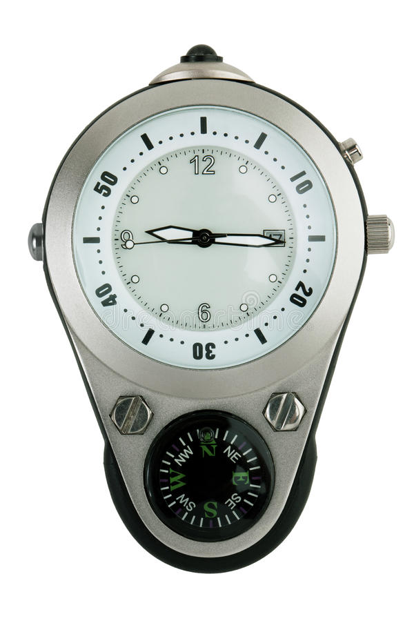 Download Hours, Combined With A Compass Stock Image - Image: 23120113