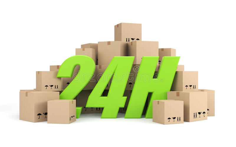 24 hours delivery stock illustration