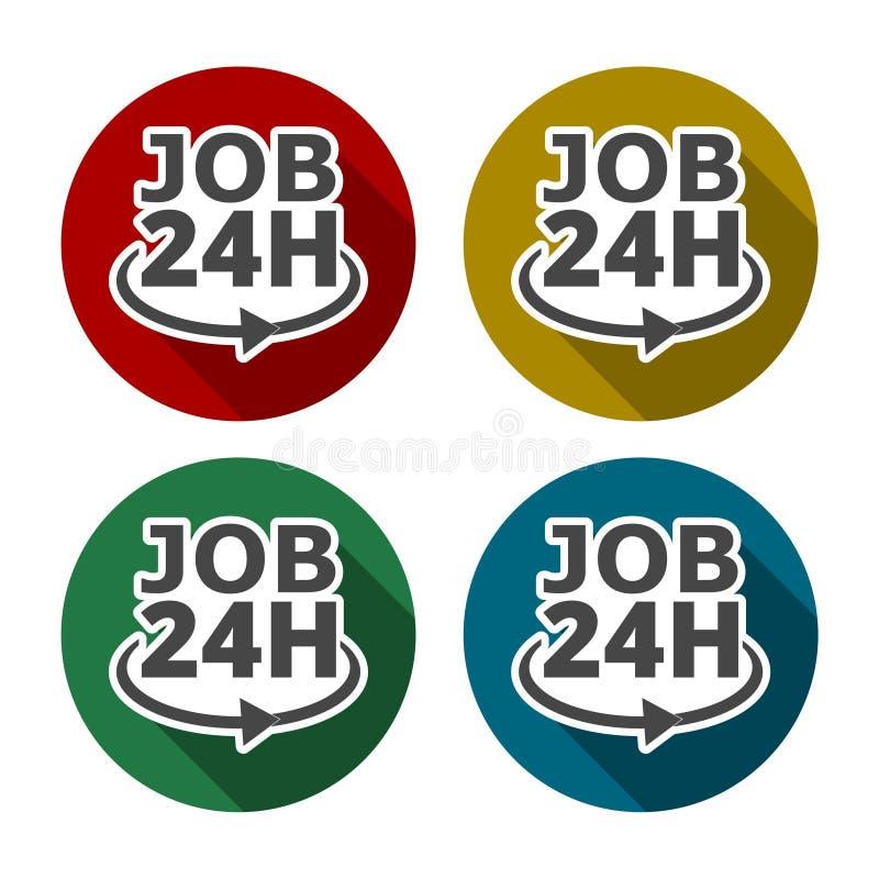 24 Hours job royalty free illustration