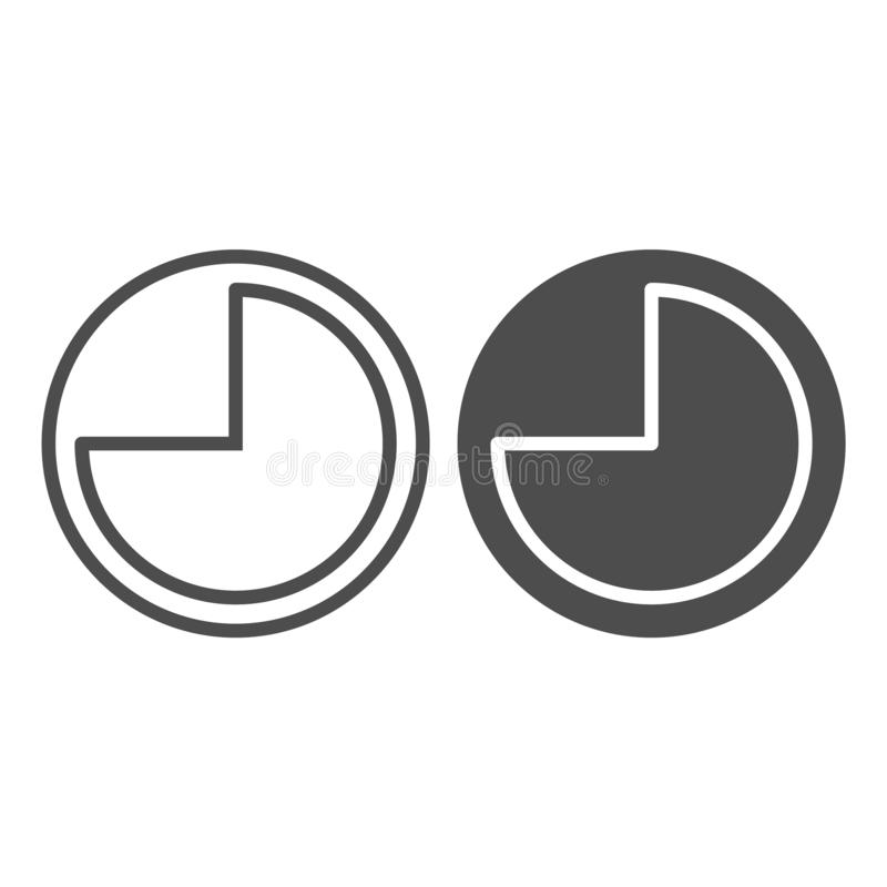 9 hours line and glyph icon. Forenoon vector illustration isolated on white. Clock outline style design, designed for vector illustration