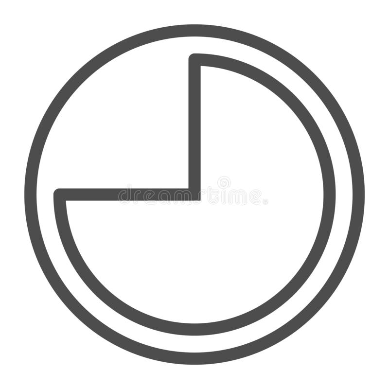9 hours line icon. Forenoon vector illustration isolated on white. Clock outline style design, designed for web and app royalty free illustration