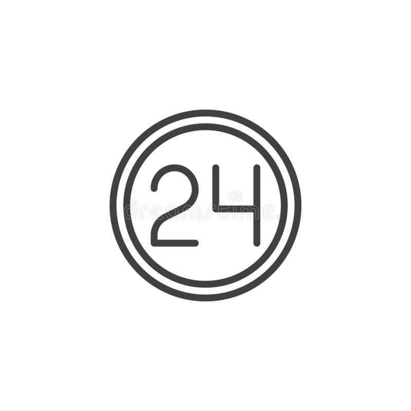 24 hours service line icon royalty free illustration
