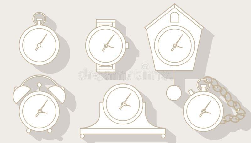 clocks set stock illustration