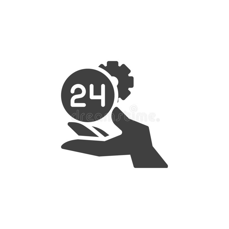 24 hours technical support service vector icon vector illustration