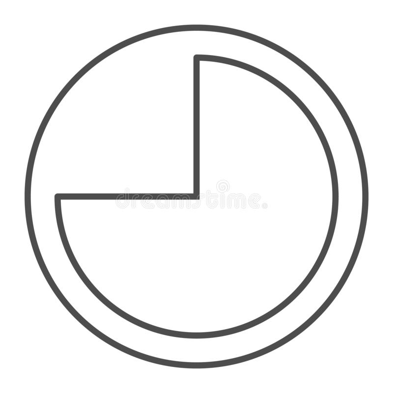 9 hours thin line icon. Forenoon vector illustration isolated on white. Clock outline style design, designed for web and stock illustration