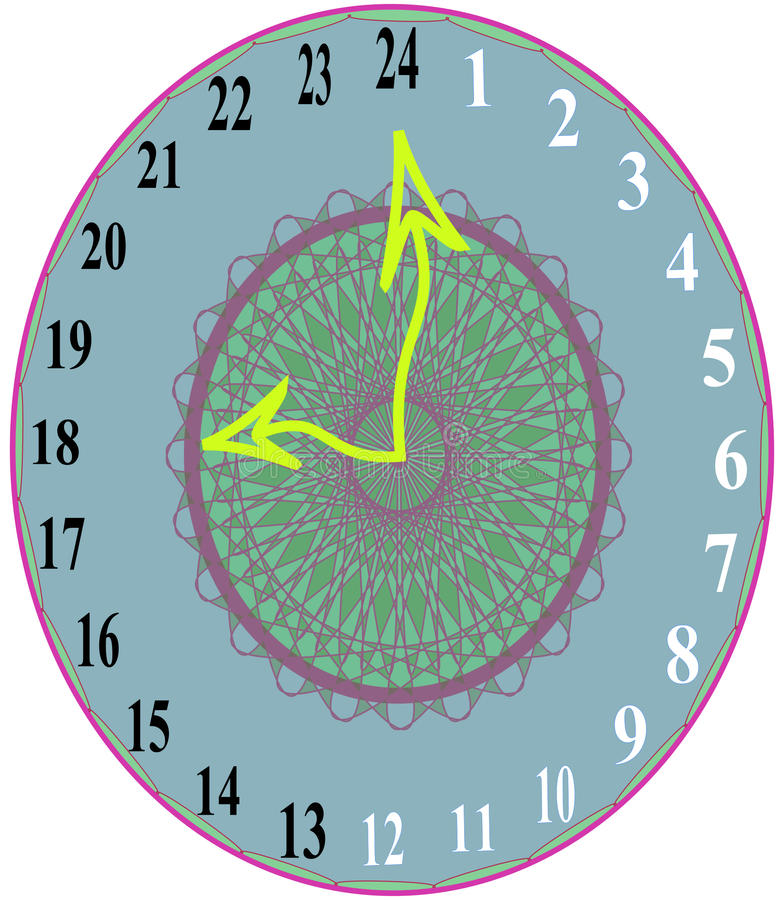 24 hours time show clock 1 stock images