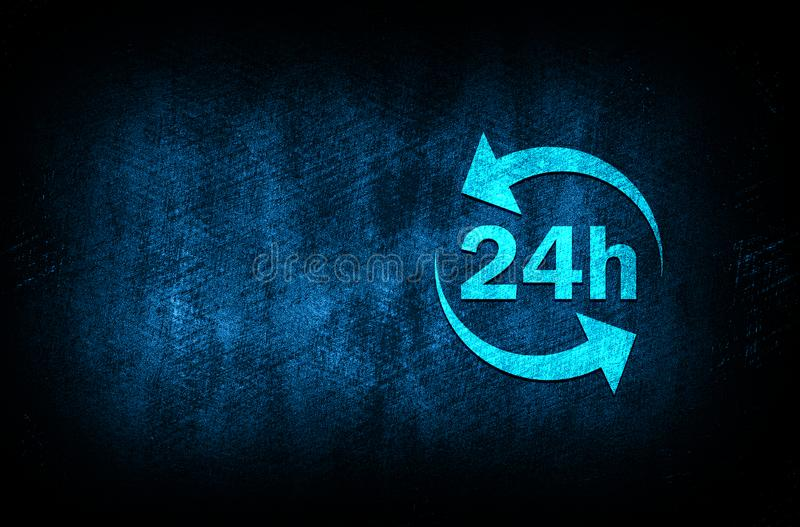 24 hours update icon abstract blue background illustration digital texture design concept. 24 hours update icon abstract blue background illustration dark blue stock illustration
