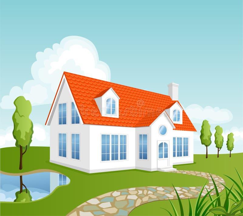 house royalty free illustration