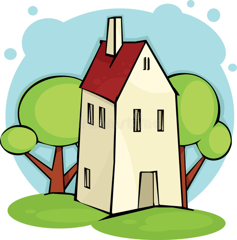 Download House stock vector. Illustration of tree, summer, house - 14430229