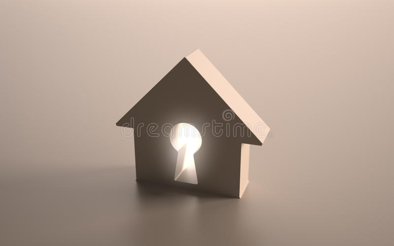 Download House stock illustration. Image of buying, ideas, lock - 15981491