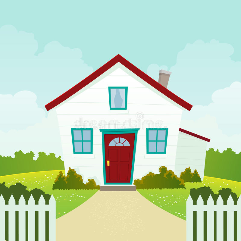 Download House stock illustration. Image of seasons, fence, domicile - 20434984