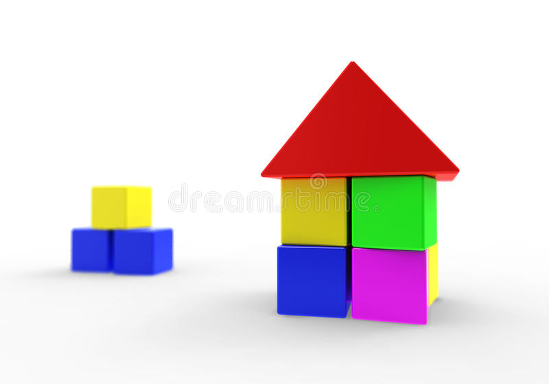 House  3d Model Royalty Free Stock Image