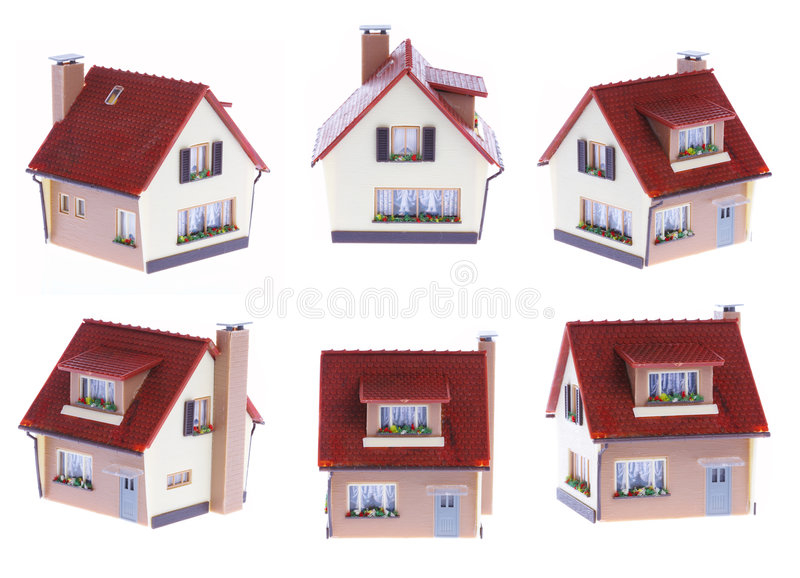 House. The house in different foreshortenings royalty free stock images