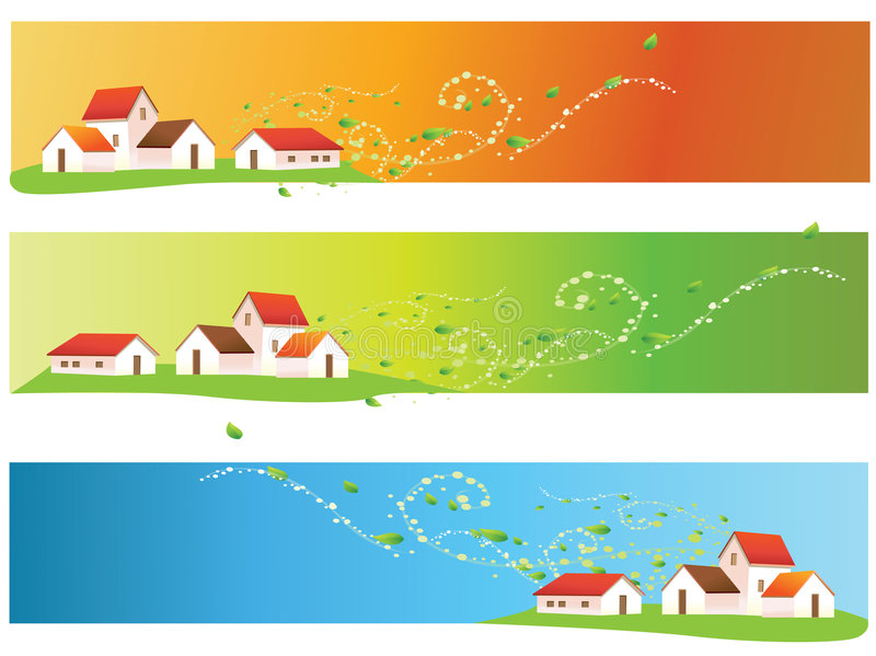 House. Vector abstract house book banner colourful blurred