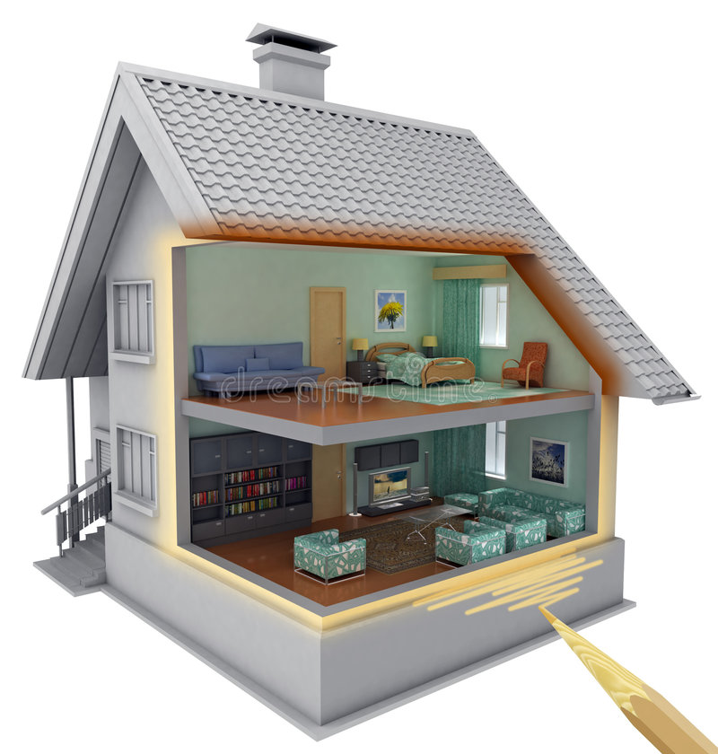 House. stock illustration