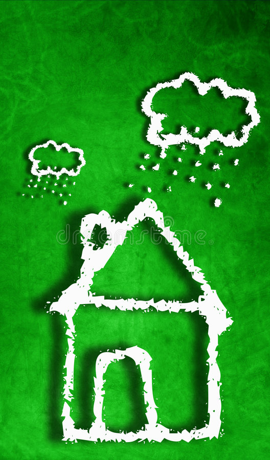 Download House stock illustration. Illustration of green, rainy - 7533383