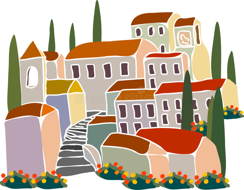 Download House stock vector. Image of toscana, southern, luxury - 9430254
