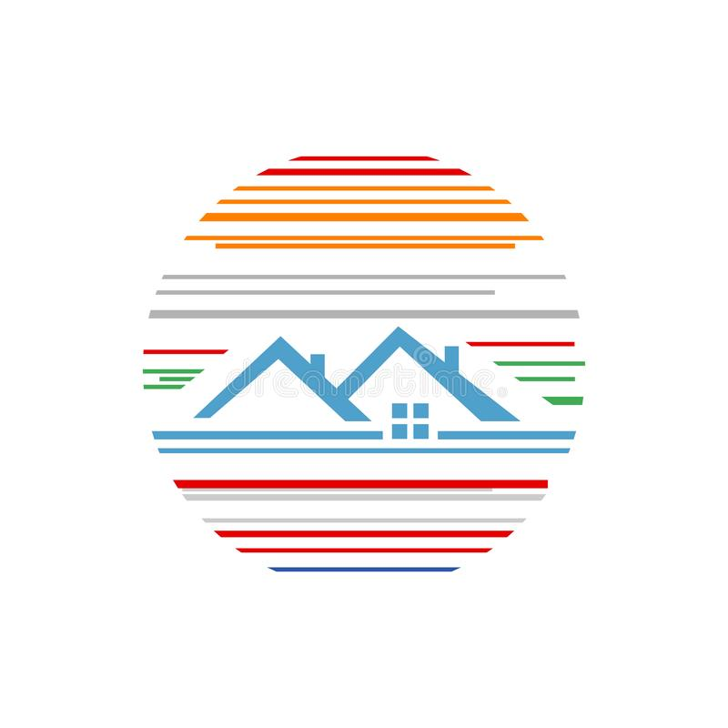 Free House Abstract Home Construction Architecture Real Estate Realty Logo Design Vector Concept Illustrations Stock Photography - 157713022