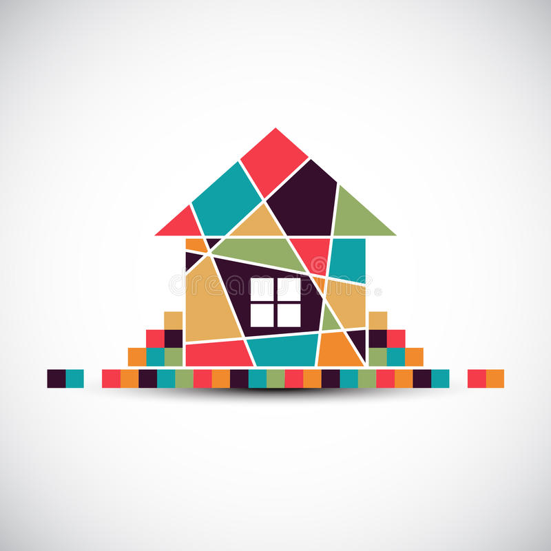 House abstract real estate vector background. vector illustration