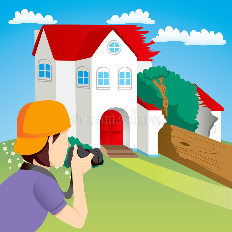 Download House Accident News Stock Image - Image: 24596351