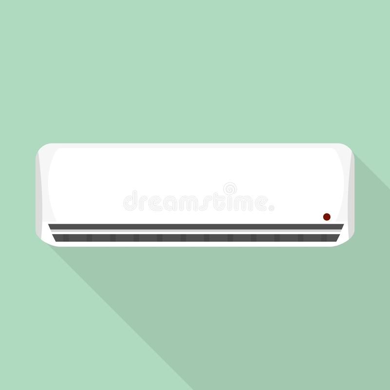 House air conditioner icon, flat style. House air conditioner icon. Flat illustration of house air conditioner vector icon for web design vector illustration