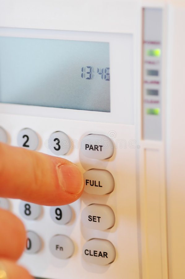 House alarm stock photos
