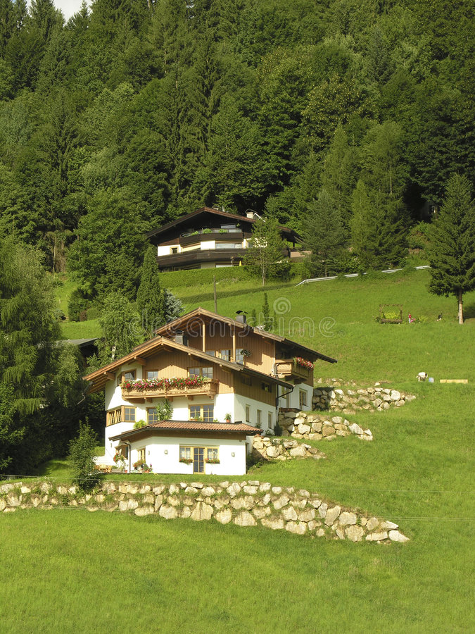 Download House in the alps stock photo. Image of alps, homes, house - 185838