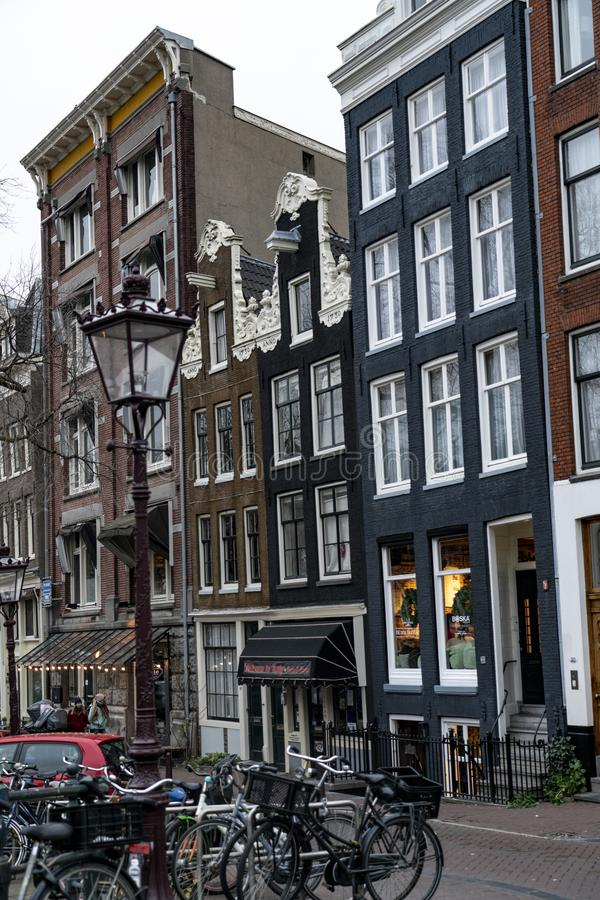 House of Amsterdam Holland. Amsterdam Holland The city of Amsterdam, capital of the Netherlands, is built on a network of artificial canals in Dutch: grachten royalty free stock photos
