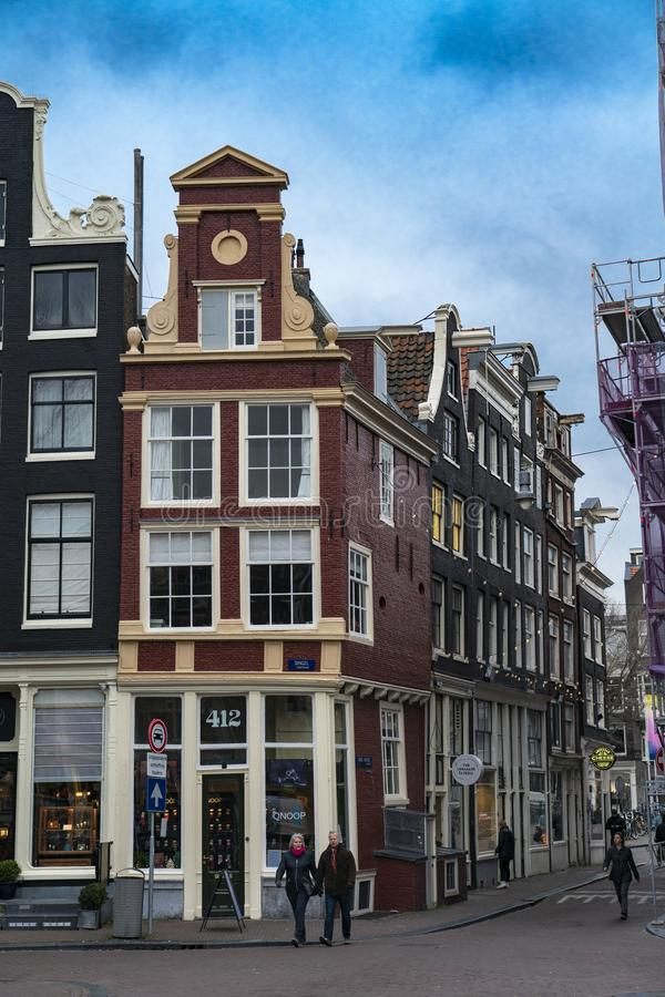 House of Amsterdam Holland. Amsterdam Holland The city of Amsterdam, capital of the Netherlands, is built on a network of artificial canals in Dutch: grachten stock photography