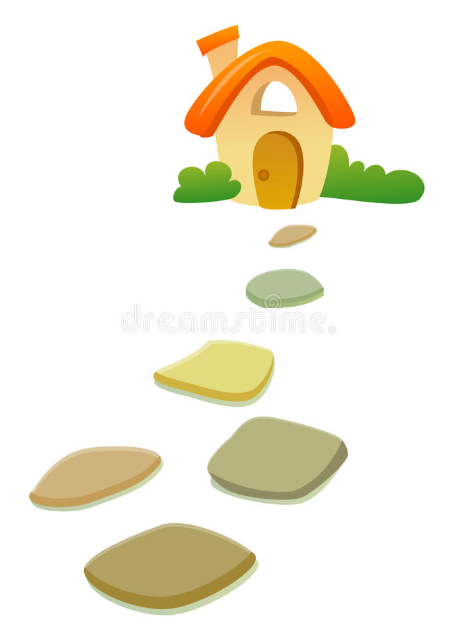 Free House And Road Stone Stock Photo - 10186020