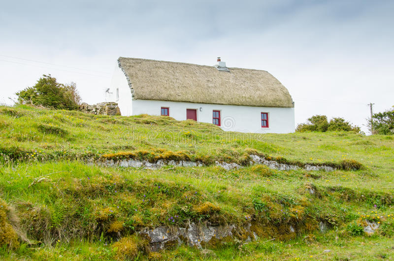 House in Aran Islands. Typical traditional hut in Aran Islands, Republic of Ireland royalty free stock photo