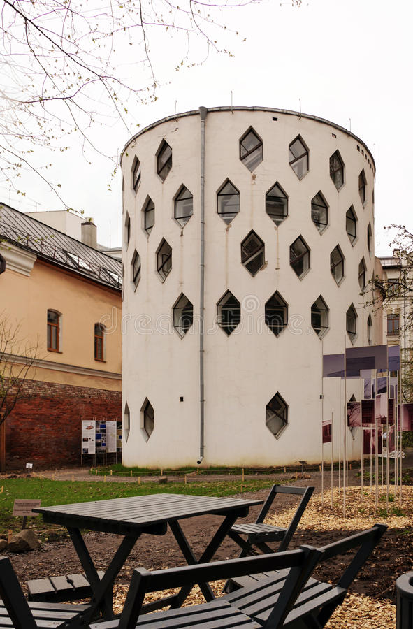 House of architect Melnikov in Moscow, Russia stock photos