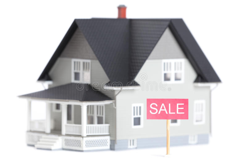 Download House Architectural Model With Sale Sign, Stock Image - Image: 24797095